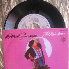 Discos de vinilo: DONNA SUMMER - THE WANDERER / STOP ME. Lote 28726214