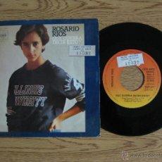 Discos de vinilo: ROSARIO RIOS - QUE QUERRA DECIR ESTO? / COMO EN UN SUEÑO - SINGLE 1976. Lote 42890589