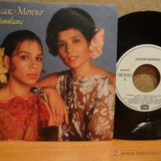 Discos de vinilo: AZUCAR MORENO, ESTIMÚLAME. SINGLE-PROMO / EMI - 1986. CALIDAD LUJO. ****/****. Lote 42892222