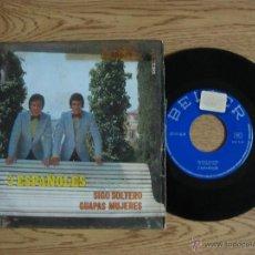 Discos de vinilo: LOS 2 ESPAÑOLES - SIGO SOLTERO / GUAPAS MUJERES - SINGLE BELTER 1971 - SG. Lote 42893639