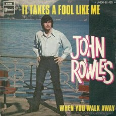 Discos de vinilo: JOHN ROWLES SINGLE SELLO EMI AÑO 1969. Lote 42901702