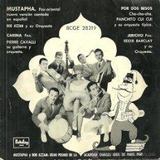Discos de vinilo: BOB AZZAM CANTA EN ESPAÑOL MUSTAPHA EP SELLO BARCLAY AÑO 1960. Lote 42901765