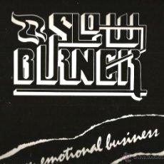 Discos de vinilo: LP SLOW BURNER : AN EMOTIONAL BUSINESS . Lote 42904714