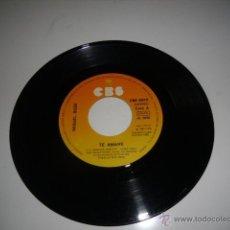 Disques de vinyle: SIN CARATULA MIGUEL BOSE TE AMARE 7 PULGADAS. Lote 149295270
