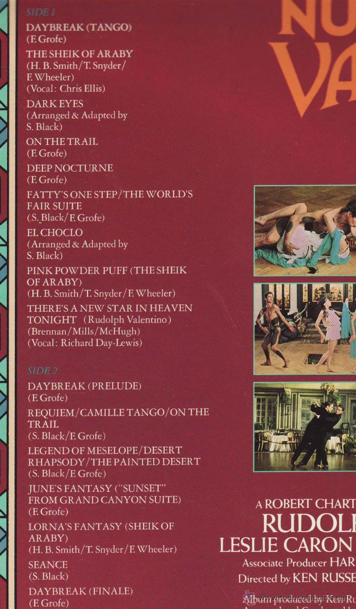 Discos de vinilo: VALENTINO / RUDOLF NUREYEV,stanley black, ken russell ( RARA B.S.O. COLECTORS !! ) ORG USA EDIT, EXC - Foto 6 - 42906373