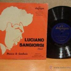 Discos de vinilo: 10 PULGADAS. LUCIANO SANGIORGI / PIANO / MÚSICA DE GERSHWIN. LP / DURIUM - AÑOS 50. ***/***. Lote 42907453