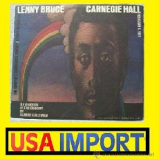Discos de vinilo: LENNY BRUCE / CARNEGIE HALL !! RARO TRIPLE 3LP !! DESPEGABLE CARPETA !! ORIG USA EDIT 1973 !! EXC. Lote 37439520