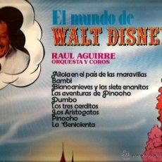 Discos de vinilo: LP EL MUNDO DE WALT DISNEY (ORQUESTA Y COROS RAUL AGUIRRE); DUMBO, PINOCHO, BAMBI, BLANCANIEVES ETC. Lote 42921197