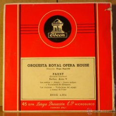 Discos de vinil: CHARLES GOUNOD - FAUST - ODEON BSOE 4.004. Lote 42923768