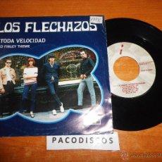 Discos de vinilo: LOS FLECHAZOS A TODA VELOCIDAD / FRED FINLEY THEME SINGLE DE VINILO AÑO 1992 2 TEMAS MOD COOPER RARO. Lote 42942187