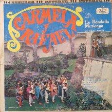 Discos de vinilo: CARMELA Y RAFAEL CON LA RONDALLA MEXICANA DEL CHATO FRANCO . LP . MUSART MEXICO . ED1254. Lote 42943244