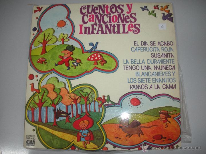 MAGNIFICO LP DE - CUENTOS Y CANCIONES INFANTILES - (Música - Discos - LPs Vinilo - Música Infantil)