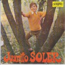 Discos de vinilo: JUANITO SOLER - PENAS DE AMOR + 3 - EP ACROPOL SPAIN 1968 EX / EX. Lote 42957023