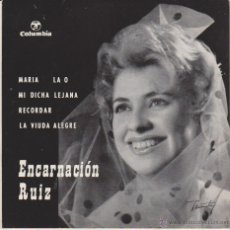 Discos de vinilo: ENCARNACION RUIZ - MARIA LA O - RECORDAR + 2 - EP SPAIN 1963 EX / EX. Lote 42957537