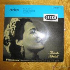 Discos de vinilo: RENATA TEBALDI. LA TRAVIATA + 3. EP. DECCA EDICION ALEMANA. Lote 42960708