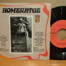 Discos de vinilo: HOMENATGE A PAU CASALS. SINGLE / INTERDISC - 1977. MUY BUENA CALIDAD. ***/***. Lote 42962403