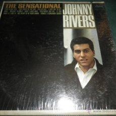 Discos de vinilo: JOHNNY RIVERS - THE SENSATIONAL LP - ORIGINAL U.S.A. - CAPITOL RECORDS 1964 CON FUNDA INT. ORIGINAL. Lote 42969515