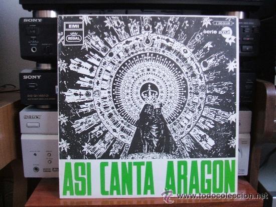 ASI CANTA ARAGON [LP 33 RPM] ***SPAIN*** **1969** (Música - Discos - LP Vinilo - Étnicas y Músicas del Mundo)