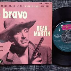 Discos de vinilo: DEAN MARTIN. RIO BRAVO. EP CAPITOL EAP 1-20016. FRANCE. NELSON RIDDLE AND HIS ORCHESTRA.. Lote 42973747