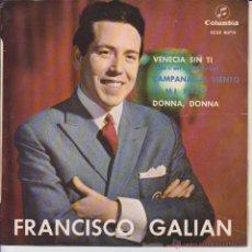 Discos de vinilo: FRANCISCO GALIAN - DONNA, DONNA - VENECIA SIN TI + 2 - EP SPAIN 1964 VG++ / VG++. Lote 42975801