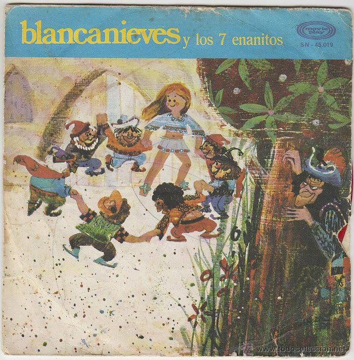 BLANCANIEVES Y LOS SIETE ENANITOS - SINGLE DEL SELLO MOVIEPLAY DEL AÑO 1.970 (Música - Discos - Singles Vinilo - Música Infantil)
