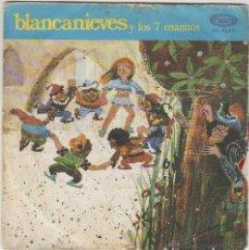 Discos de vinilo: BLANCANIEVES Y LOS SIETE ENANITOS - SINGLE DEL SELLO MOVIEPLAY DEL AÑO 1.970. Lote 42976467