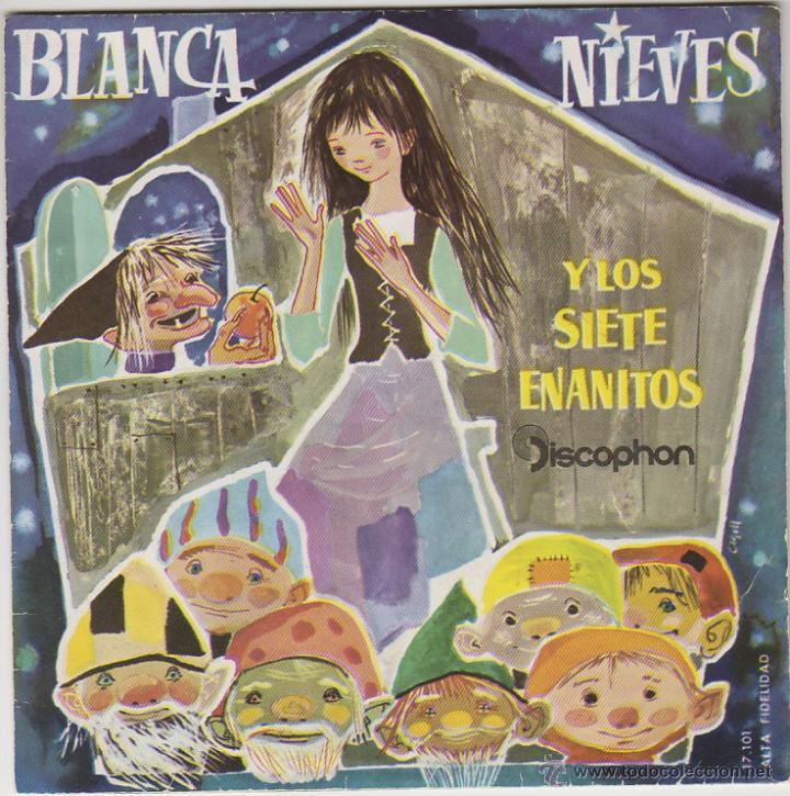 BLANCANIEVES Y LOS SIETE ENANITOS, SINGLE DE DISCOPHON 1960 (Música - Discos - Singles Vinilo - Música Infantil)