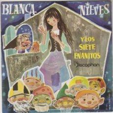 Discos de vinilo: BLANCANIEVES Y LOS SIETE ENANITOS, SINGLE DE DISCOPHON 1960. Lote 42976489