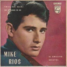 Discos de vinilo: MIKE RIOS - TWIST DEL RELOJ ( TWIST AROUND THE CLOCK )- BRISTOL + 2 - EP SPAIN 1962 EX / EX. Lote 120429551