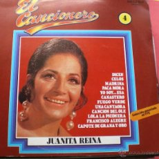 Discos de vinilo: EL CANCIONERO Nº 4 - JUANITA REINA LP CON FASCICULO PEPETO. Lote 42985350