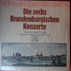 Discos de vinilo: JOHANN SEBASTIAN BACH CONCIERTO BRANDENBURGO 2 LP NUEVO ALEMAN. Lote 42992723