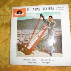 Discos de vinilo: EL ARPA VIAJERA. HUGO BLANCO. MOLIENDO CAFE + 3. EP. POLYDOR 1961. Lote 42995422