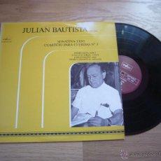 Discos de vinilo: JULIAN BAUTISTA LP NM SONATINA CAMARA CASALS FIGUEROA POULENC RODOLFO FRANCISCO TARREGA. Lote 42999270