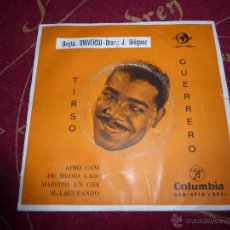Discos de vinilo: TIRSO GUERRERO - AFRO CAÑI / DE MEDIO LAO / MAREITO EN CHA / MALAGUEANDO - SINGLE MUY RARO --. Lote 43002268