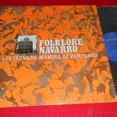 Discos de vinilo: LOS IRUÑAKO IRUÑA-KO + MANUEL DE PAMPLONA FOLKLORE NAVARRO LP 1973 COLUMBIA NAVARRA COMO NUEVO. Lote 43019407