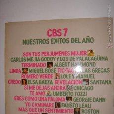Discos de vinilo: LP. CBS7 NUESTROS EXITOS DEL AÑO. SON TUS PERJUMENES MUJER/FIESTA...CBS. 1977.. Lote 50222288