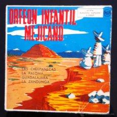 Discos de vinilo: ORFEÓN INFANTIL MEJICANO - LAS CHIAPANECAS - 1958. Lote 43034147
