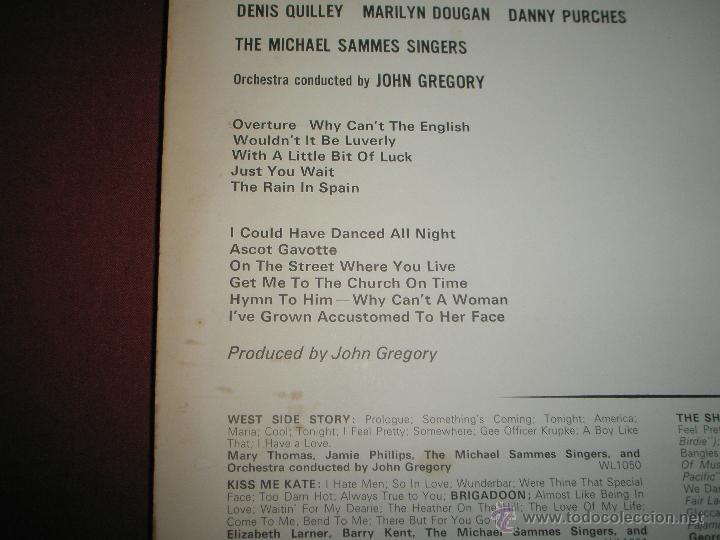 Discos de vinilo: LP-VINILO-GRAN BRETAÑA-MY FAIR LADY-1965-WING-. - Foto 3 - 43036415