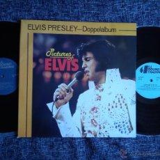 Discos de vinilo: PICTURES OF ELVIS I + II. ELVIS PRESLEY. DOPPELALBUM. DOBLE LP ALL ROUND TRADING. DINAMARCA.GATEFOLD. Lote 43038196