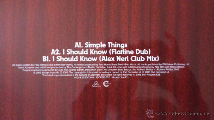 Discos de vinilo: DIRTY VEGAS - SIMPLE THINGS - MAXI SINGLE VINILO 12 - 3 TRACKS - 2003 - Foto 4 - 43042279