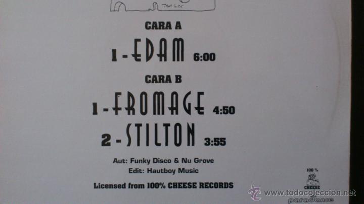 Discos de vinilo: SOUNDTWOOLS - CHUNKY CHEESE VOL. 1 - MAXI VINILO 12 - 3 TRACKS - 1995 - ARIOLA - Foto 2 - 43042463