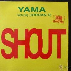 Discos de vinilo: YAMA - FEAT JORDAN D - SHOUTH - VINILO - BLANCO Y NEGRO - 4 TRACKS - 1993. Lote 43045415