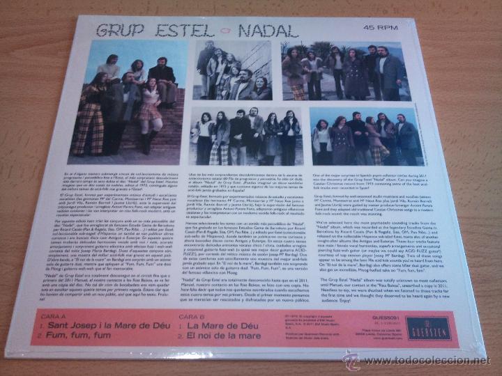 Discos de vinilo: GRUP ESTEL - Nadal ( mini LP reedición ) 70s spanish folk rock y psicodélico - Foto 2 - 124086622