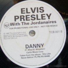 Discos de vinilo: ELVIS PRESLEY WITH THE JORDANAIRES / DANNY / A FOOL (SUCH AS I) PROMO SINGLE 7'' UK RARE. Lote 43051599
