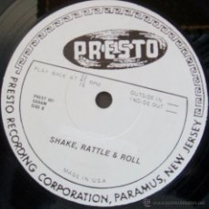 Discos de vinilo: ELVIS PRESLEY SHAKE RATTLE AND ROLL / WHAT A FOOL I WAS. Lote 43051653