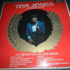 Discos de vinilo: TOM JONES - 13 SMASH HITS LP - ORIGINAL INGLES - DECCA RECORDS 1967 - STEREO -. Lote 144417108