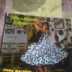 Discos de vinilo: MÚSICA Y CASTAÑUELAS DE ESPAÑA. EMMA MALERAS Y SU BALLET ESPAÑOL C2V. Lote 43055304