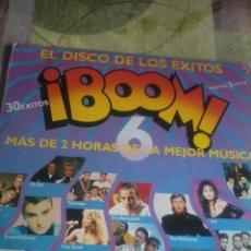 Discos de vinilo: BOOM 6 EL DISCO DE LOS ÉXITOS CONTIENE 2 DISCO. C2V. Lote 43055928