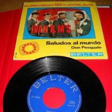 Discos de vinilo: SINGLE SALUDOS AL MUNDO - EUROVISION 69 YUGOSLAVIA. Lote 43056474