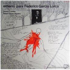 Discos de vinilo: RAFAEL GÓMEZ MONTERO - ENTIERRO PARA FEDERICO GARCIA LORCA - LP SPAIN 1977 - ZAFIRO ZL-204. Lote 43057207